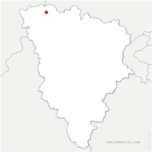 carte de localisation de Méricourt