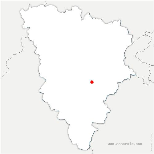 carte de localisation de Mesnil-Saint-Denis