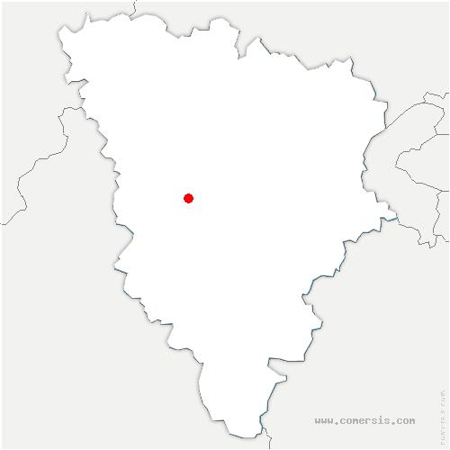 carte de localisation de Millemont
