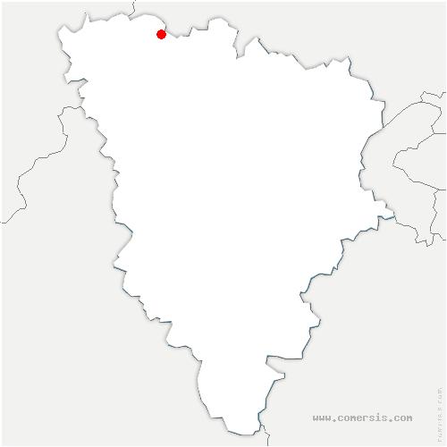 carte de localisation de Moisson