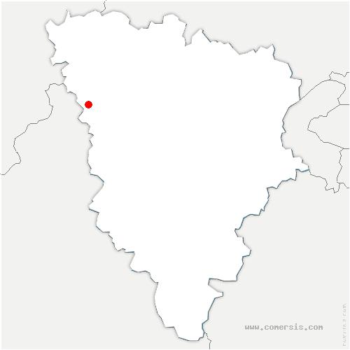 carte de localisation de Mondreville