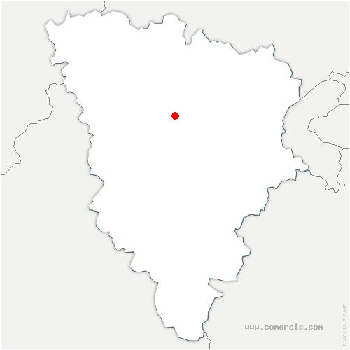 carte de localisation de Montainville