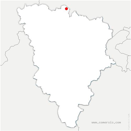 carte de localisation de Montalet-le-Bois