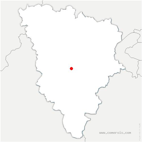 carte de localisation de Montfort-l'Amaury