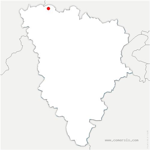 carte de localisation de Mousseaux-sur-Seine