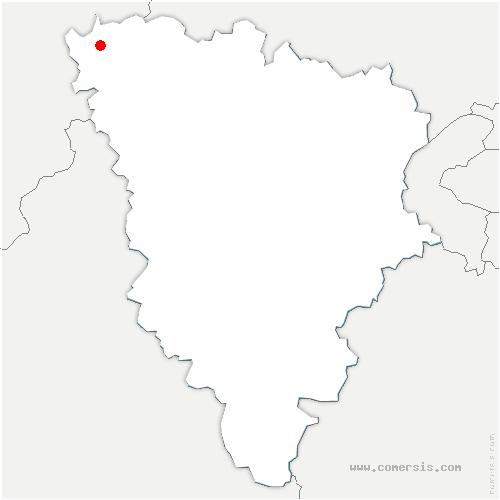 carte de localisation de Notre-Dame-de-la-Mer