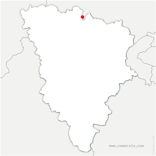 carte de localisation de Oinville-sur-Montcient