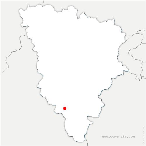 carte de localisation de Orcemont