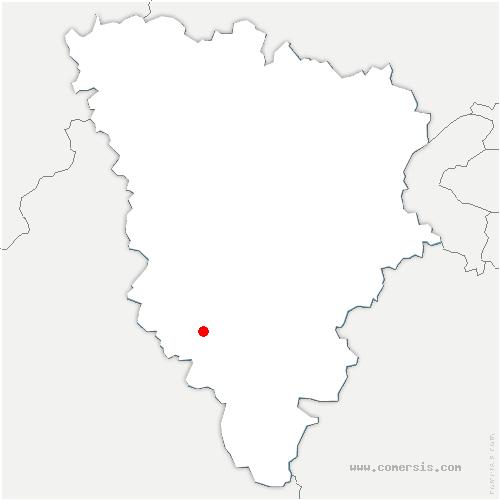 carte de localisation de Poigny-la-Forêt