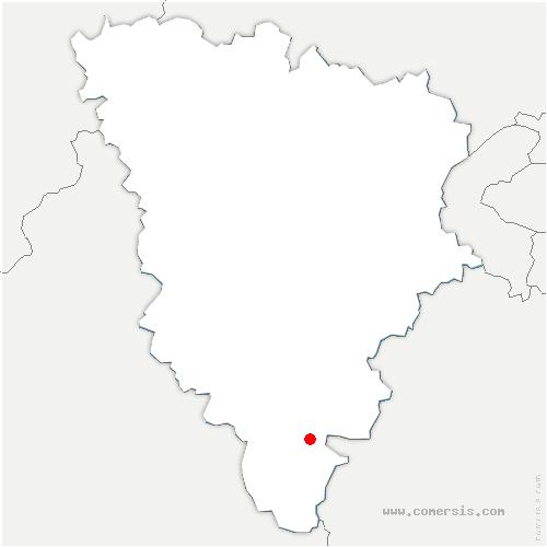 carte de localisation de Ponthévrard