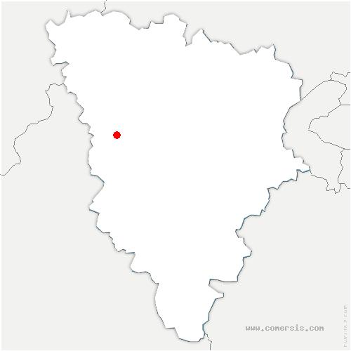 carte de localisation de Prunay-le-Temple