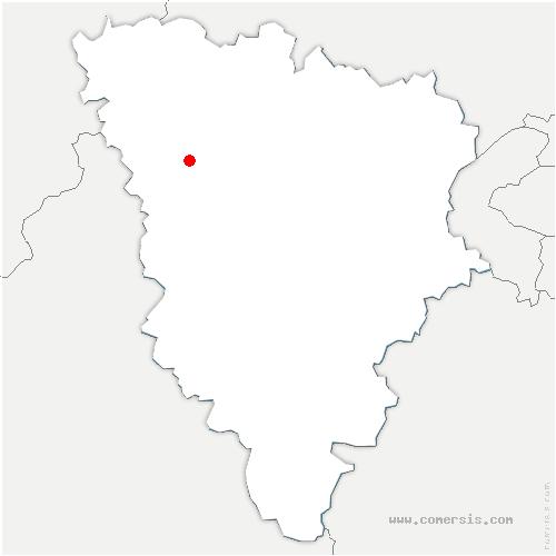 carte de localisation de Rosay