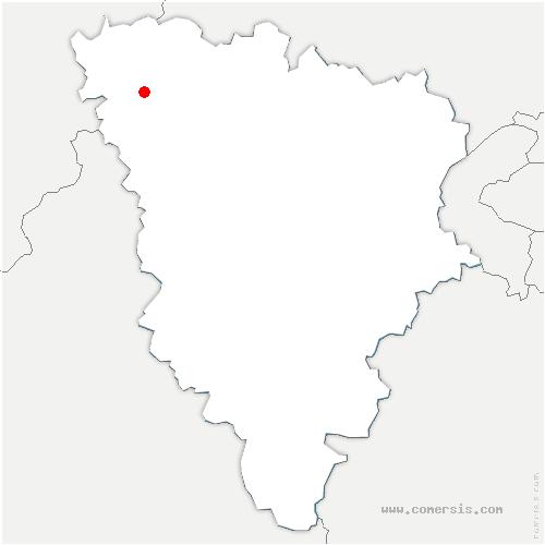 carte de localisation de Rosny-sur-Seine