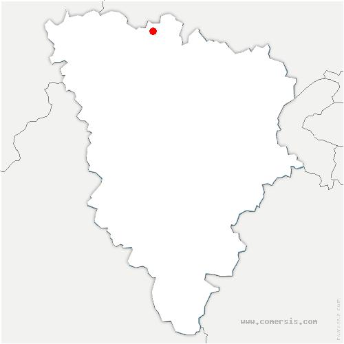 carte de localisation de Sailly