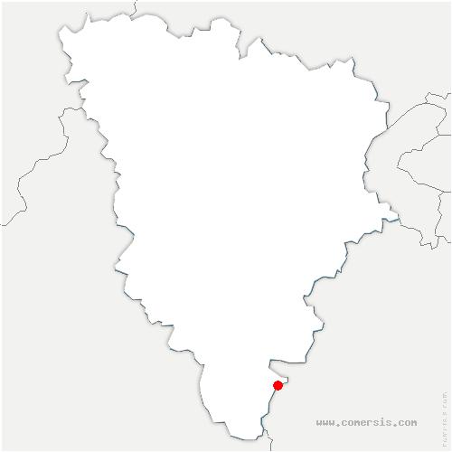 carte de localisation de Saint-Martin-de-Bréthencourt