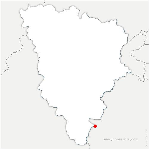 carte de localisation de Sainte-Mesme