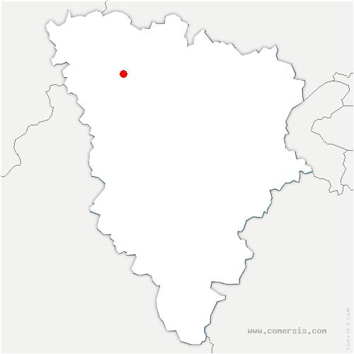 carte de localisation de Soindres