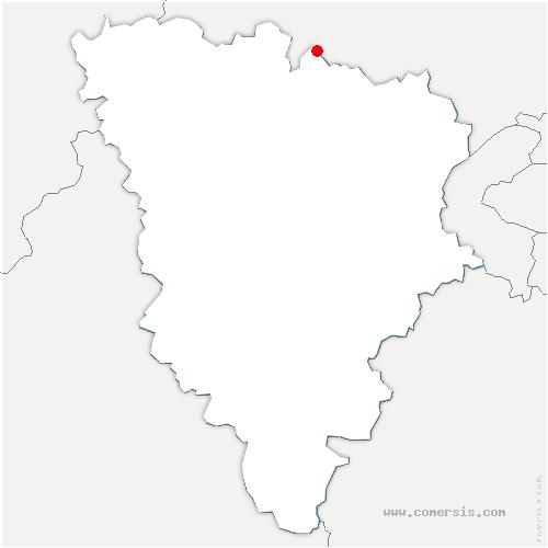 carte de localisation de Tessancourt-sur-Aubette