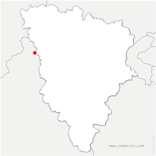 carte de localisation de Tilly