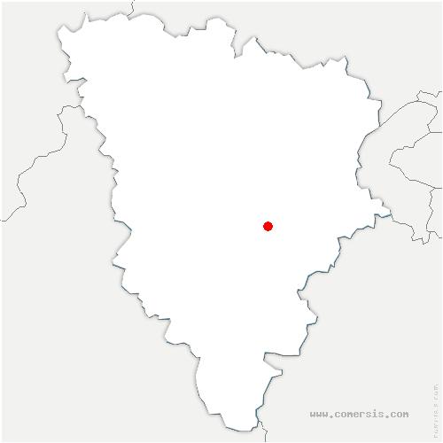 carte de localisation de Verrière