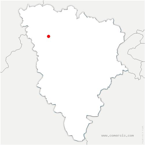 carte de localisation de Vert