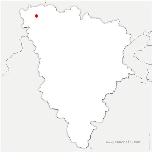 carte de localisation de Villeneuve-en-Chevrie