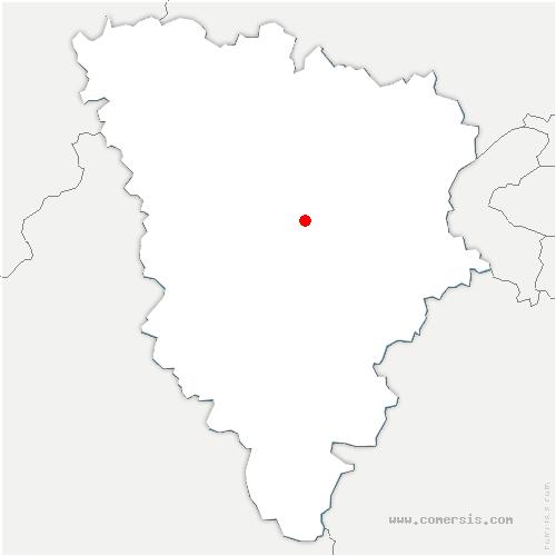 carte de localisation de Villiers-Saint-Fréderic