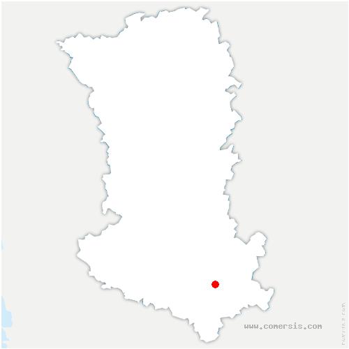 carte de localisation de Alloinay