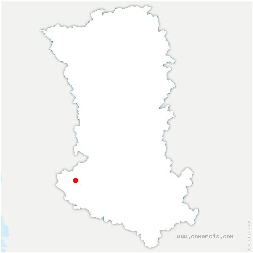 carte de localisation de Amuré