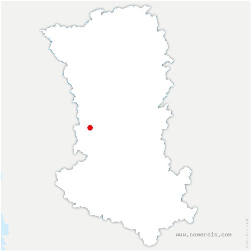 carte de localisation de Ardin