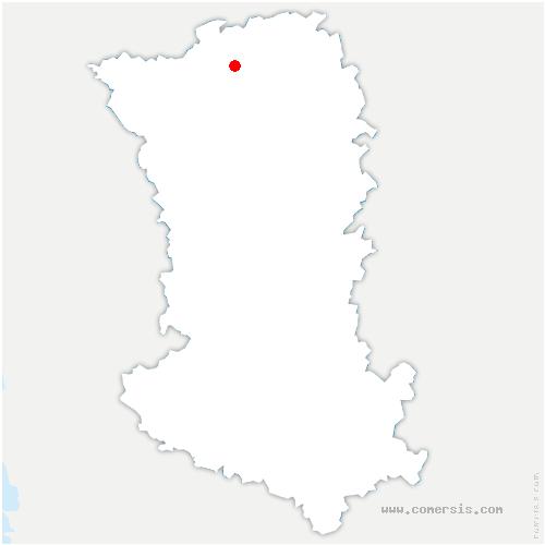 carte de localisation de Argentonnay