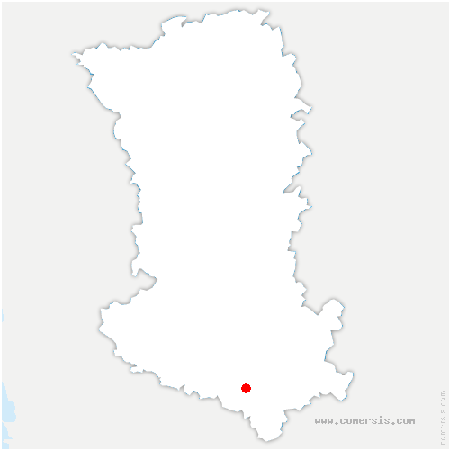 carte de localisation de Asnières-en-Poitou