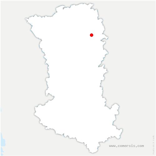carte de localisation de Availles-Thouarsais