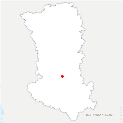 carte de localisation de Azay-le-Brûlé