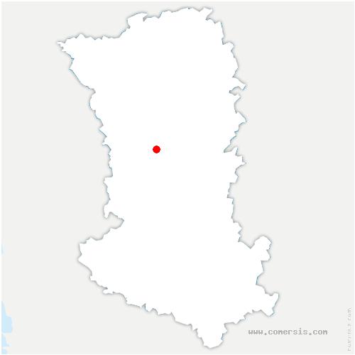 carte de localisation de Azay-sur-Thouet