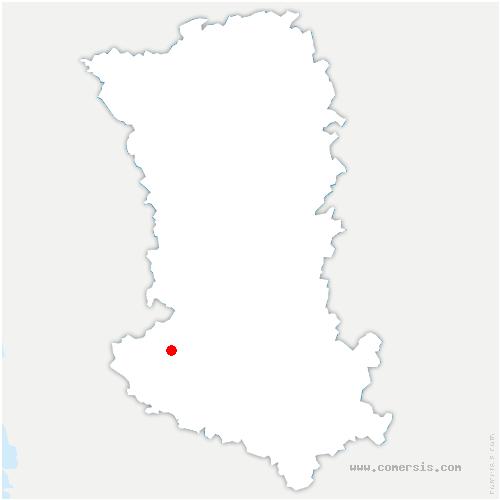 carte de localisation de Bessines