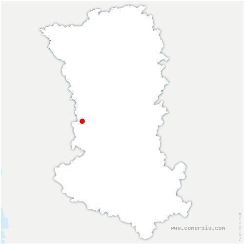 carte de localisation de Beugnon-Thireuil
