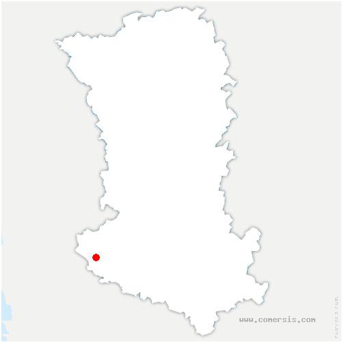 carte de localisation de Bourdet