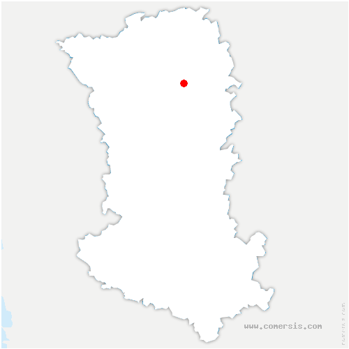 carte de localisation de Boussais