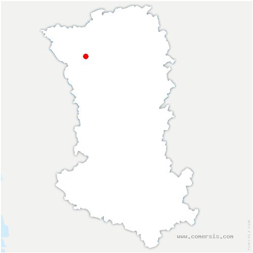 carte de localisation de Bretignolles