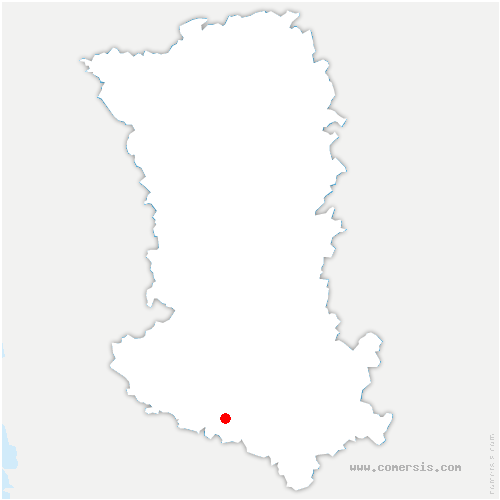 carte de localisation de Brieuil-sur-Chizé