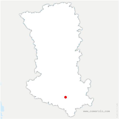 carte de localisation de Brioux-sur-Boutonne