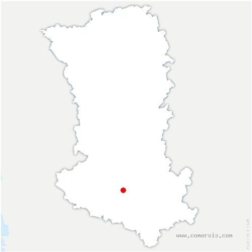 carte de localisation de Brûlain