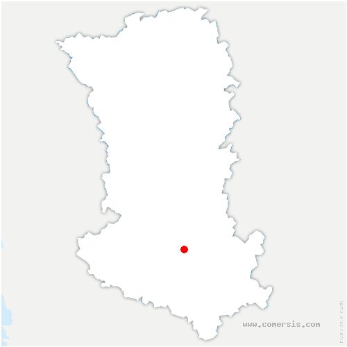 carte de localisation de Celles-sur-Belle