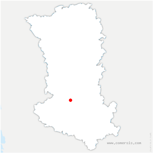 carte de localisation de Chauray
