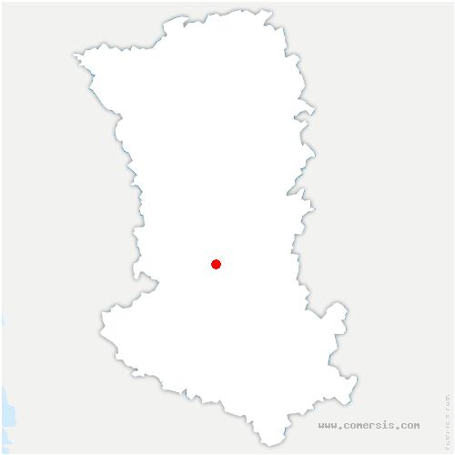 carte de localisation de Cherveux