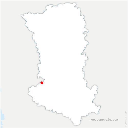 carte de localisation de Coulon