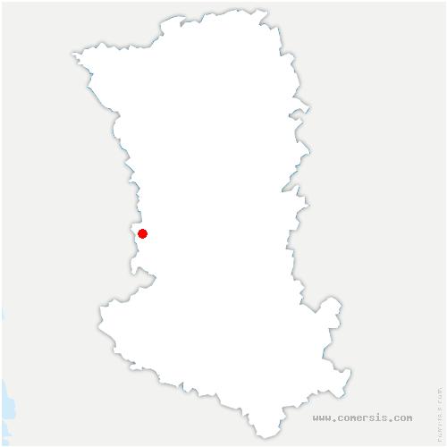 carte de localisation de Coulonges-sur-l'Autize