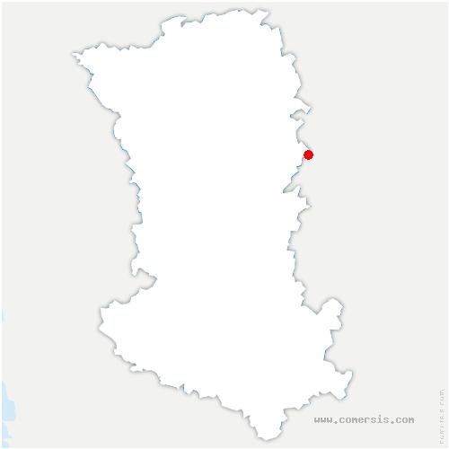 carte de localisation de Doux
