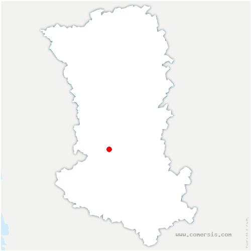 carte de localisation de Échiré